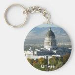 Capitolio del estado de Utah - Salt Lake City Llavero Redondo Tipo Pin