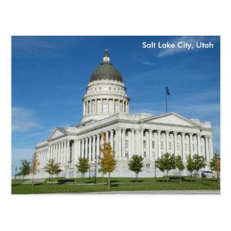 Capitolio del estado de Utah - Salt Lake City Tarjeta Postal