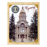 Capitolio del estado de Wyoming, Cheyenne, WY Tarjeta Postal