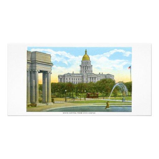 Capitolio del estado, Denver, Colorad Tarjeta Fotografica Personalizada