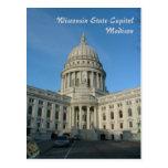 Capitolio del estado - Madison Tarjeta Postal