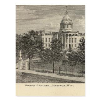 Capitolio del estado, Madison, WIS Postal