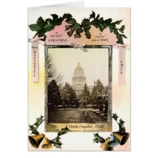 Capitolio del estado, Sacramento, CA, 1922 Tarjeta De Felicitación