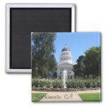 Capitolio del estado, Sacramento, CA Imán Cuadrado