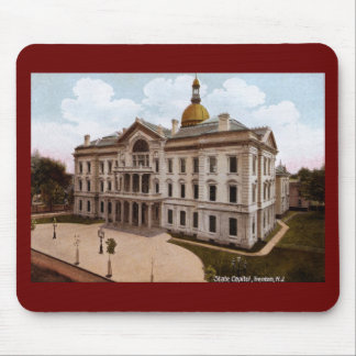 Capitolio del estado, vintage de Trenton NJ Mouse Pads
