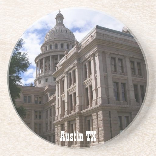 Capitolio del TX-State de Austin Posavasos Diseño