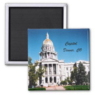 Capitolio, Denver, CO Imán Cuadrado