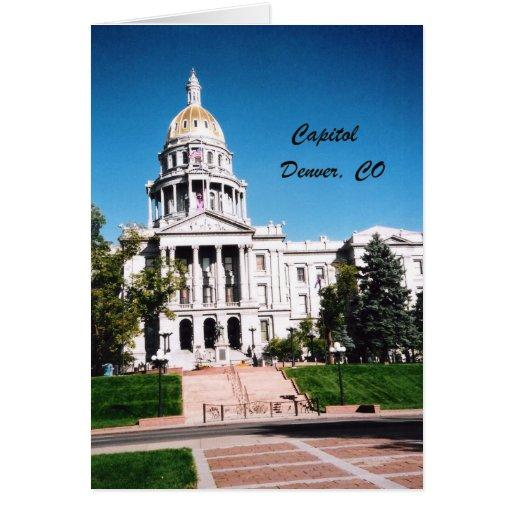 Capitolio, Denver, CO Tarjeta De Felicitación