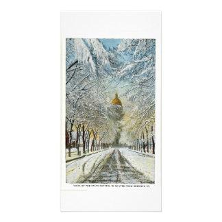 Capitolio en invierno, Denver, Colorado del estado Tarjeta Fotografica