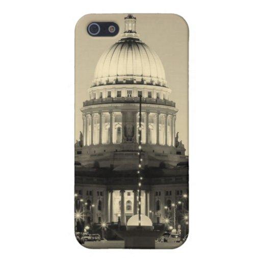 Capitolio Madison Wisconsin del estado de Wisconsi iPhone 5 Funda