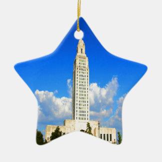 capitolio que construye al gobierno de Luisiana Ba Ornaments Para Arbol De Navidad
