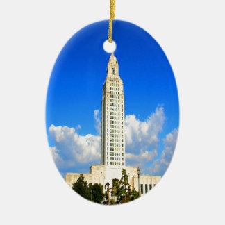 capitolio que construye al gobierno de Luisiana Ba Ornamento Para Arbol De Navidad