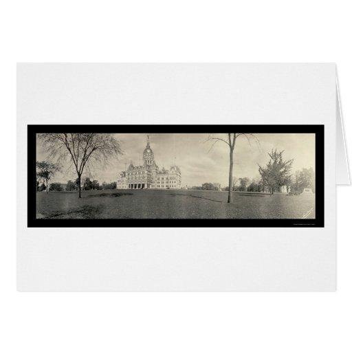 Capitolio que construye foto 1909 de Hartford, Tarjeta De Felicitación