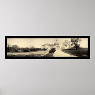 Capitolio que construye la foto 1909 de DC Póster