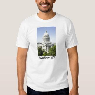 Capitolio que construye los WI de Madison Playeras