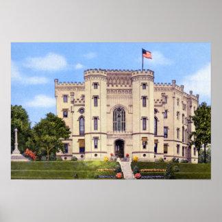 Capitolio viejo del estado de Baton Rouge Luisiana Poster