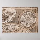 Capítulo 3 del mapa del mundo de Sepia Version de  Poster