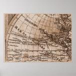 Capítulo 4 del mapa del mundo de Sepia Version de  Poster