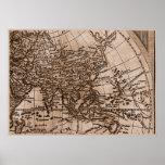 Capítulo 6 del mapa del mundo de Sepia Version de  Impresiones