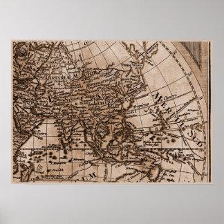 Capítulo 6 del mapa del mundo de Sepia Version de Póster