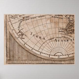 Capítulo 7 del mapa del mundo de Sepia Version de  Posters