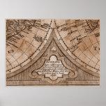 Capítulo 8 del mapa del mundo de Sepia Version de  Poster