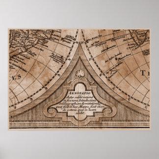 Capítulo 8 del mapa del mundo de Sepia Version de Póster