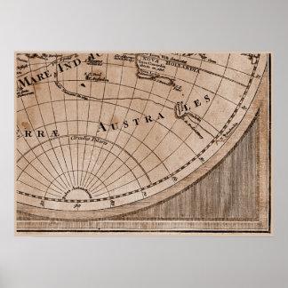 Capítulo 9 del mapa del mundo de Sepia Version de  Impresiones