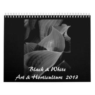 Capítulo completo negro y blanco v del arte y de calendario de pared