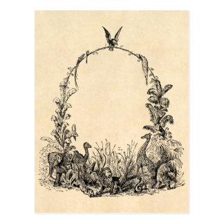 Capítulo de animal salvaje de los 1800s del vintag tarjeta postal