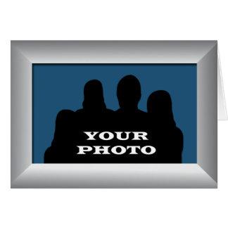 Capítulo de plata su foto 5 x saludo horizontal 7 tarjeta de felicitación
