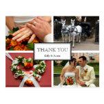 Capítulo gracias nota personal del montaje de 4 fo postales