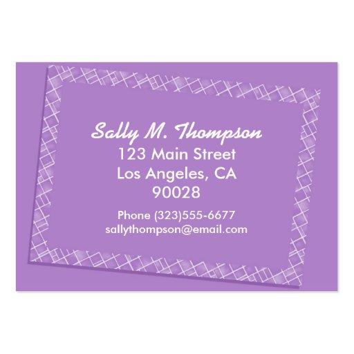 capítulo púrpura brillante de la frontera tarjetas de visita grandes