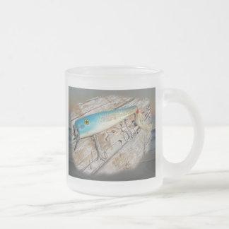 Cap'n Bill's Streamliner Saltwater Vintage Lure Frosted Glass Coffee Mug