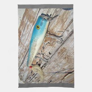 Cap'n Bill's Streamliner Saltwater Vintage Lure Kitchen Towels