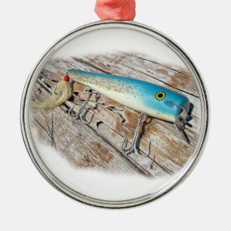 Cap'n Bill's Streamliner Saltwater Vintage Lure Metal Ornament