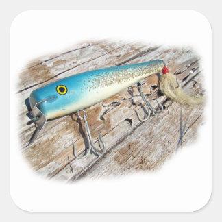 Cap'n Bill's Streamliner Saltwater Vintage Lure Square Sticker