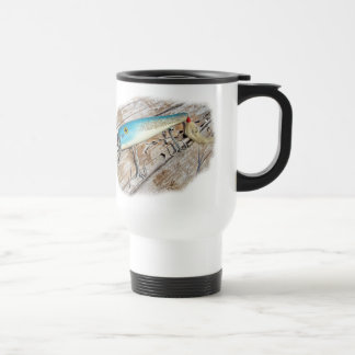 Cap'n Bill's Streamliner Saltwater Vintage Lure Travel Mug