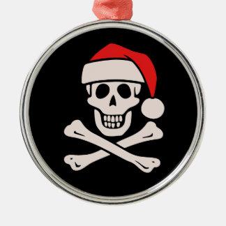 Cap'n Claus Metal Ornament