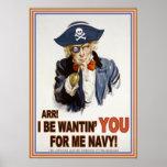 Cap'n Sam's Navy Poster