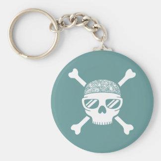 Cap'n Shady Basic Round Button Keychain