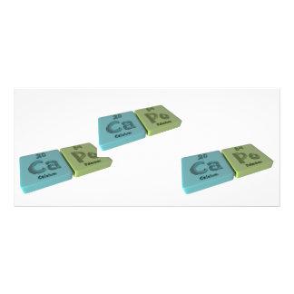 Capo as Ca Calcium and Po Polonium Rack Cards