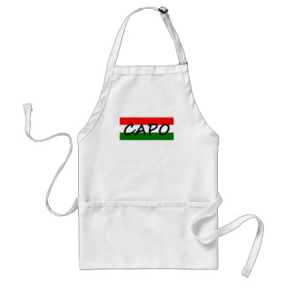 CAPO, capo means BOSS! in italian and spanish, Adult Apron