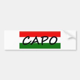 CAPO, capo means BOSS! in italian and spanish, Car Bumper Sticker