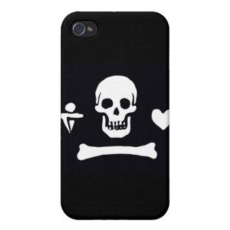 Capo de Stede de la bandera de pirata iPhone 4 Funda