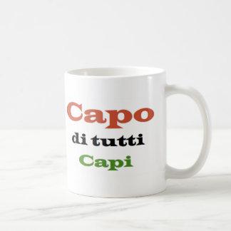 Capo di tutti classic white coffee mug