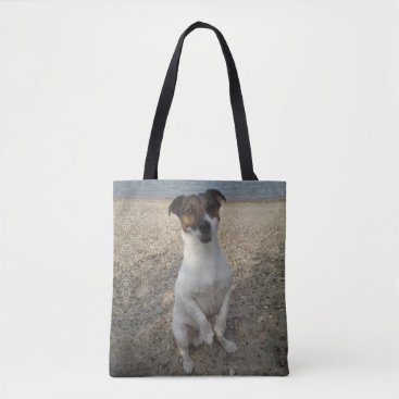 Beach Themed Capo von Oppenheim Jack Russell Terrier, Dog Tote Bag