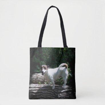 Beach Themed Capo von Oppenheim Jack Russell Terrier, Dog Tote Bag