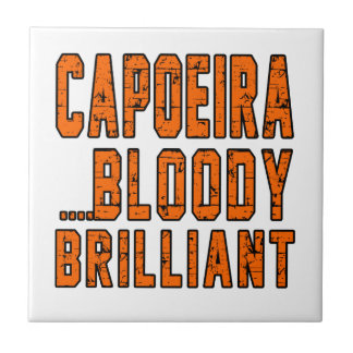 Capoeira Bloody brilliant Small Square Tile