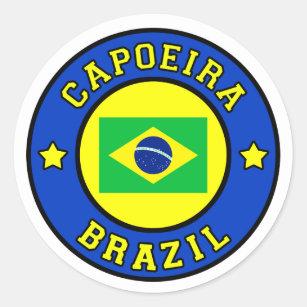 Capoeira Classic Round Sticker